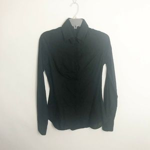 Masnada Italy Womens Button Up Shirt Size 4 Black